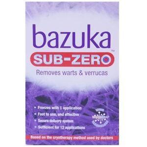 Bazuka Sub-Zero Verucca and Wart Removal 50ml 1 2 3 6 Packs