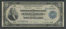 """FR774 $2 1918 FRBN """"BATTLESHIP"""" NOTE KANSAS CITY (VF) ONLY 177 RECORDED HW5309"""