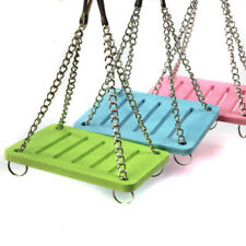 1pc Swing Funny Hanging Gadget Pet Hamster Toys Wooden Bird Cage Accessories