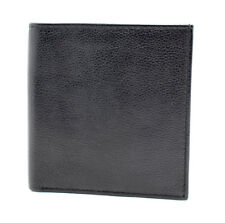 Marks And Spencer M&S Mens Leather Bifold Card Wallet Black