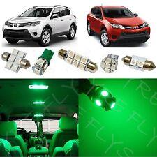 8x Green LED lights interior package kit for 2013-2014 Toyota RAV4 TR3G