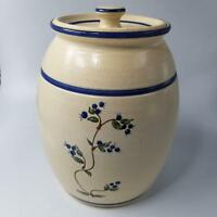 Olde Cape Cod Stoneware Pottery Cookie Jar Cover Blueberries New