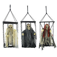 Sound Animated Ghost Skeleton Scary Props Halloween Decorations Outdoor