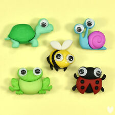 DRESS IT UP Buttons Wild And Wacky 10416 Ladybird Bees Frog Tortoise Googly Eyes