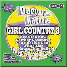 NEW Party Tyme Karaoke - Girl Country 8 (8+8-Song CD+G) (Audio CD)