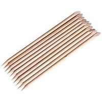 10Pcs Nail Art Cuticle Pusher Remover Pedicure  Wooden Stick Tools