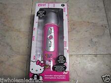 Hello Kitty 10109-HK Wireless Karaoke Microphone Pink MP3 W/ Built-in Speaker