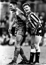 PAUL GASCOIGNE & VINNIE JONES WIMBLEDON NEWCASTLE FAMOUS FOOTBALL POSTER