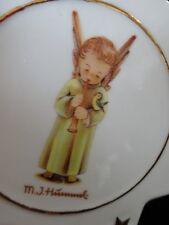 Vintage MJ HUMMEL Porcelain Star HEAVENLY ANGEL Gold Trimmed CHRISTMAS ORNAMENT