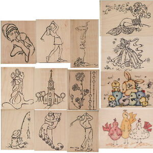 WHIPPER SNAPPER WOODMOUNTED STAMPS 13 ASSORTED DESIGNS TO CHOOSE FROM