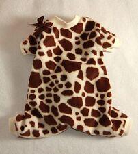 S Giraffe Print Fleece Dog Pajamas clothes PJS pet apparel Small PC Dog®