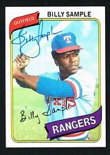 Billy Sample #458 signed autograph auto 1980 Topps Baseball Trading Card