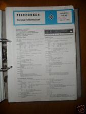 Service Manual Telefunken Concertino 401 HiFi,ORIGINAL