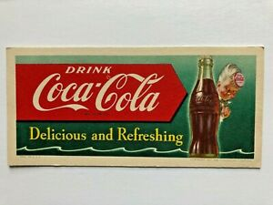 """drink  COCA-COLA """" delicious and  refreshing """" - 1951 INK  blotter"""
