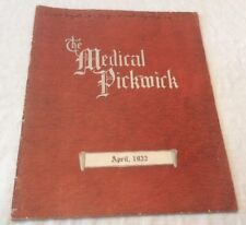 """New listing """"The Medical Pickwick"""" Monthly Magazine For & By Physicians - April 1922"""