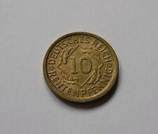 WEIMAR: 10 Rentenpfennig 1924 J, J. 309, fast stempelglanz !!!