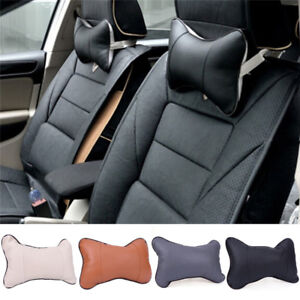 Upscale General Leather Auto Car Seat Head Rest Cushion Headrest Pillow Pad h3