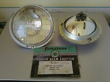 1939 Ford,Hudson,Mercury Bezels & Sealed Beam Adapter Headlamps-PAIR (4 pieces)