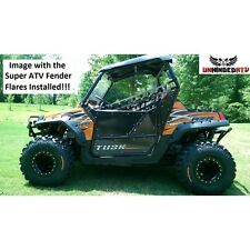 "Safari 3"" Fender Flares Set of four Polaris RZR 800,RZR S, RZR 4 2008-2010 BLACK"