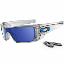 NEW OAKLEY - Batwolf - Sunglasses, Polished Clear / Ice Iridium, OO9101-07
