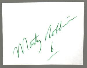 NASCAR Marty Robbins original hand signed autograph