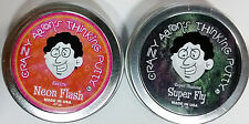 """Super Fly & Neon Flash Crazy Aaron's Thinking Putty Tin Gift Set 2 PACK 2"""" tins"""