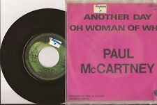 "RARE SP 7"" PAUL McCARTNEY - Another day - VG+/VG+ APPLE - 4C 006-04758 - BELGIUM"