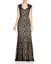 NWT Tadashi Shoji 16 18 XL Black Lace Auburn Corded Dress Gown Prom Formal NEW