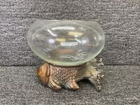 Vintage Japanese Koi Fish Bowl & Stand - Resin ~ (Fish Bowl Included)