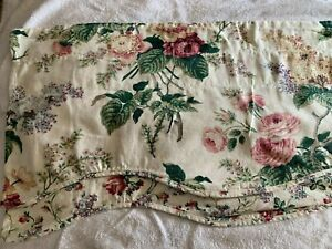Vintage WAVERLY  Valances  Floral Roses Lilac Peony Scalloped edge