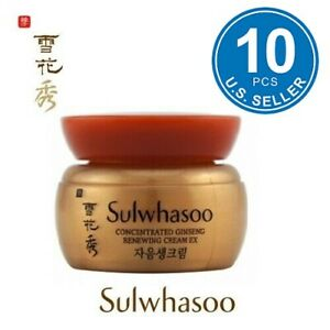 Sulwhasoo Concentrated Ginseng Renewing Cream Ex 5ml x 10pcs (50ml)  US Seller