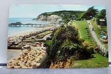 United Kingdom Isle of Wight Small Hope Beach Cliff Path Esplanade Postcard Old