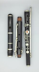 Alte Querflöte, Holz, ca.1890, Grenadill, antique flute, approx 1890, grenadilla