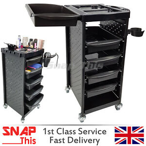 Salon Hairdresser Beauty Storage Trolley Colouring Hair Barber Drawers Makeup