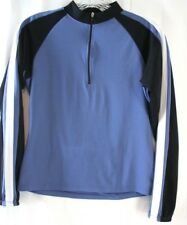 Bellwether Womens Cycling Jersey Small Blue 1/2 Zip LS Mesh
