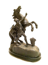 Vintage After Guillaume Coustou Marly Horse Statue Figurine Groom Home Decor
