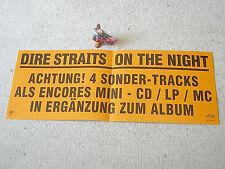 DIRE STRAITS On The Night (Encores) 1993 GERMAN PROMO-POSTER 39 x 15 cm VERTIGO