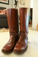FRYE Boots Campus Engineer Motorcycle Riding Cowboy Tall Tan 9.5 D Vintage