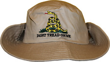 Beige Gadsden Tea Party Dont Tread on Me Bucket Hat Cap