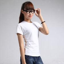 Camisas y tops de mujer de manga corta color principal blanco 100% algodón