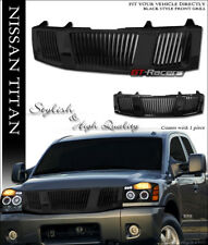 FOR 2004-2007 NISSAN TITAN/ARMADA BLACK VERTICAL FRONT HOOD BUMPER GRILL GRILLE