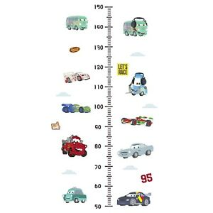 NEW Cartoon Cars Height Growth Chart Wall Sticker Kids Room Height Measure Decal