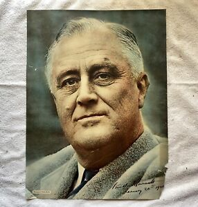 Franklin Roosevelt Washington Times Herald January 20, 1941 signed picture