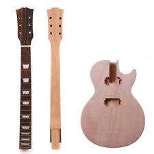 1set Guitar Kit Guitar Neck Body 22fret Mahogany Rosewood Set In Unfinished
