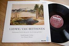 Beethoven violin sonatas David Oistrakh Oistrach Oborin LP philips 6273iny: NM