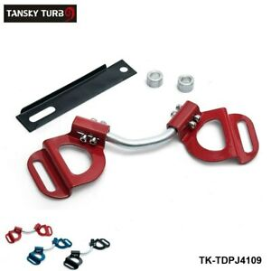 Red Car Adjustable Battery Hold Down Kit Clamp Bracket Bolts For Subaru Toyota