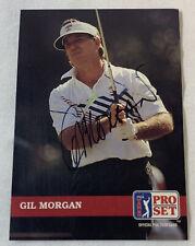 hand signed autographed PGA card ~ GIL MORGAN