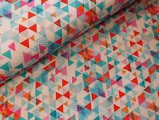 Stoff Sweat reine Baumwolle Dreiecke bunt geometrisch Sweatshirt Meterware 0,25m