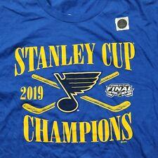 St. Louis Blues Champions T-Shirt 2019 Stanley Cup Champions T-Shirt M size