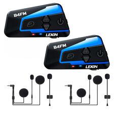 2x LEXIN LX-B4FM Casque Moto Bluetooth Intercom & FM Radio & Annulation du bruit